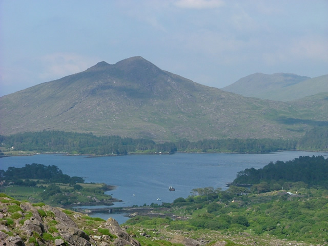 Looking across to Lauragh Bay on the Beara Way