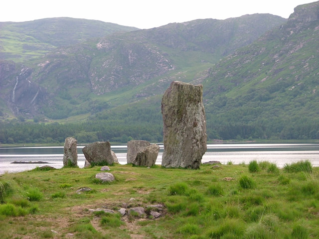 Standing stones at Gleninchiquin on the Beara Way