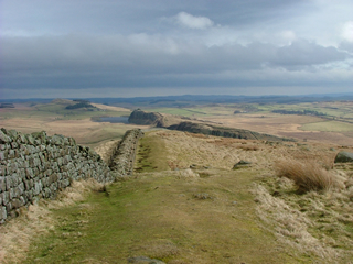 Looking east along the line of Hadrian's Wall