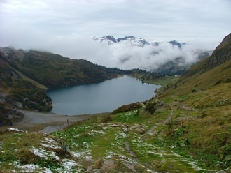 The Engstlensee from the Jochpass Oct 2005